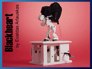 LEGO Blackheart Automata | a brick automaton designed by Evaldas Arlauskas | available on Planet GBC