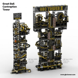 LEGO GBC - Diego Baca - GBC Tower II is the biggest marble run machine in the world - building instructions available - Planet GBC