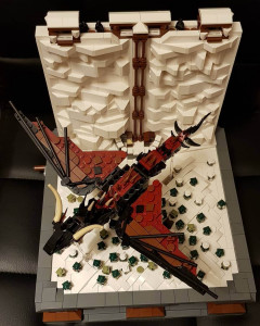 Game of Thrones The Wall - a LEGO Automaton from Jolly 3ricks - LEGO MOC available on Planet GBC
