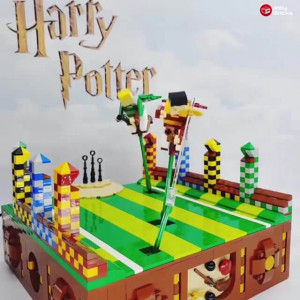 Quidditch! a LEGO Harry Potter Automaton, designed by Jolly 3ricks | Planet GBC