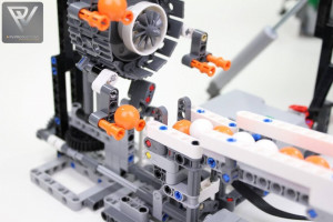 LEGO Great Ball Contraption - GBC45 - Stunt Circus - a LEGO marble run made with parts from LEGO set 42100 Liebherr R 9800 Excavator | PV-Productions | Planet GBC