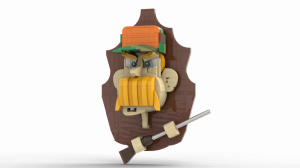 LEGO Hunter Trophy - Taxidermy - Rickard Stensby - available as Building Instructions or LEGO set