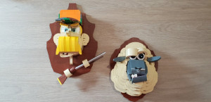 Lego-Taxidermy-Trophies-Hunter-and-the-Sheep