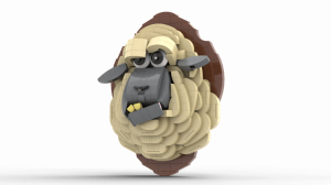 LEGO Trophy Sheep - by Rickard Stensby - StensbyLego - Suckmybrick - Building Intructions and Lego Set available on Planet GBC